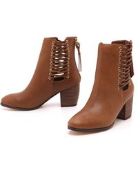 Twelfth Street by Cynthia Vincent Montana Booties  Brown - Lyst