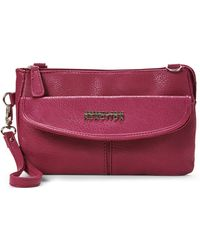 Kenneth Cole Reaction Berry Monorail Pebbled Crossbody - Lyst