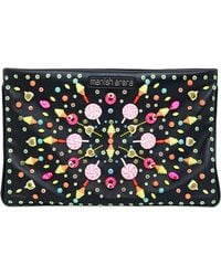 Manish Arora Embellished Faux Leather Clutch - Lyst