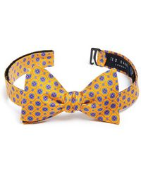 Ted Baker Silk Bow Tie yellow - Lyst