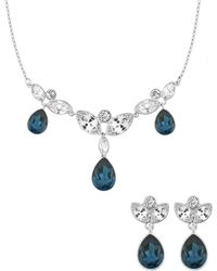 Swarovski Rhodium-plated Necklace and Earrings Set - Lyst