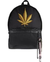 Palm Angels - Large Embroidered Leaf Backpack - Lyst