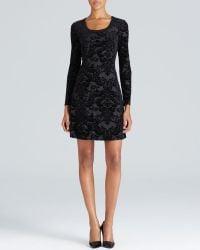 Karen Kane Damask Flocked Print Dress - Lyst
