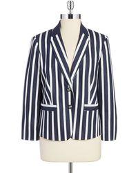 Jones New York Striped Blazer blue - Lyst