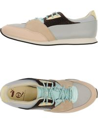 Alexander McQueen x Puma | Paneled Leather Low-Top Sneakers | Lyst