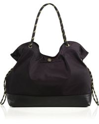 Tory Burch Cinched Nylon Tote black - Lyst