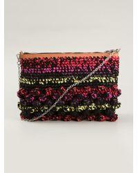 M Missoni - Braided Stripe Shoulder Bag - Lyst