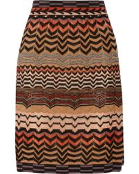 M Missoni Crochetknit Skirt - Lyst