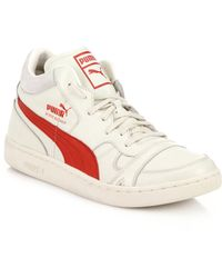 Puma Becker Leather High-Top Sneakers - Lyst