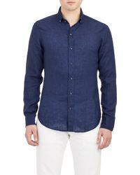 Ralph Lauren Black Label Tonal Dot-Print Shirt - Lyst