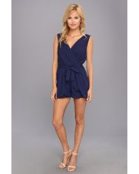 T-bags - Woven Sleeveless Belted Romper - Lyst