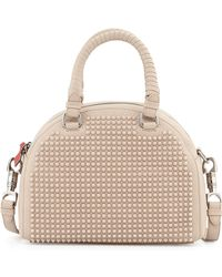 Christian Louboutin Panettone Small Spiked Satchel beige - Lyst