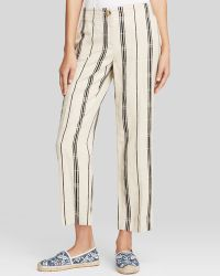Tory Burch Carrie Stripe Pants - Lyst