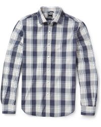 Todd Snyder Checked Cotton Shirt - Lyst