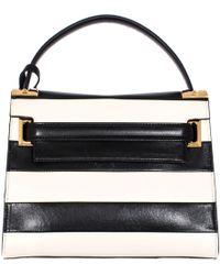 "Valentino Leather Striped ""My Rockstud"" Bag black - Lyst"