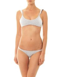 Made By Dawn Petal Textured Stripe Bikini Briefs - Lyst