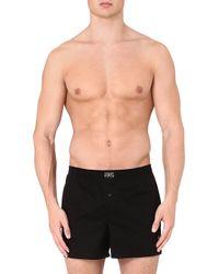 Ralph Lauren Stretchcotton Logo Boxers Black - Lyst