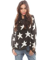 Wildfox Seeing Stars Loose Knit Sweater - Lyst