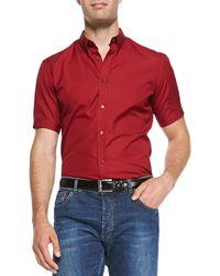 Alexander McQueen Shortsleeve Poplin Shirt - Lyst