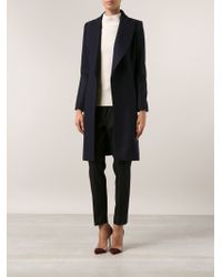 Bouchra Jarrar Blue Long Coat - Lyst