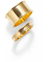 Tuleste | Stackable Channel Rings | Lyst