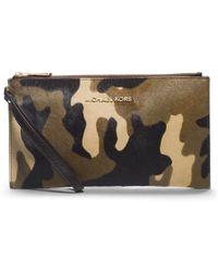 Michael Kors - Bedford Camouflage Hair Calf Clutch - Lyst