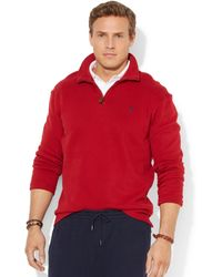 Ralph Lauren Polo Big and Tall Long Sleeve Solid French Rib Half Zip Sweater - Lyst