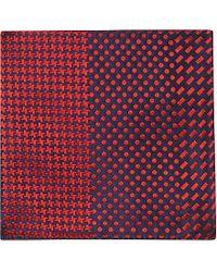 Duchamp Multi-Patterned Pocket Square - For Men - Lyst