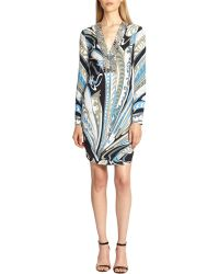 Emilio Pucci Studded Silk Dress - Lyst