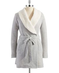 Splendid Faux Sherpa Bathrobe - Lyst