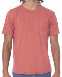 Faherty Brand Organic Cotton Pocket Tee- Sun Faded Red red - Lyst
