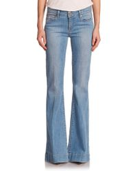 Paige Fiona High-Rise Flare Jeans - Lyst