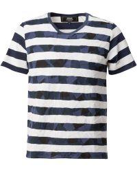 ANREALAGE | Patchwork Stripe T-shirt | Lyst