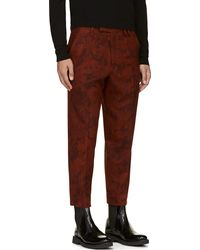 Yohji Yamamoto Burgundy and Rust Pleated Floral Blazers - Lyst