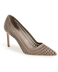 Manolo Blahnik Women'S 'Pussna' Cutout Leather Pump - Lyst