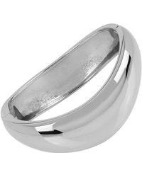 Robert Lee Morris - Seaglass Silvertone Crescent Bangle Bracelet - Lyst