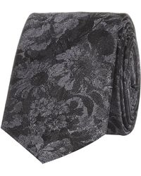 River Island Grey Floral Jacquard Tie - Lyst