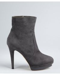 Jimmy Choo Smoked Suede Patent Platform 'Trait' Ankle Boots - Lyst