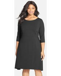 Eileen Fisher Asymmetric Sheath Dress - Lyst