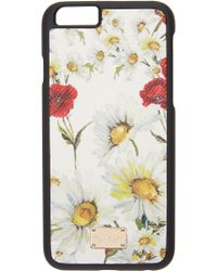 Dolce & Gabbana | White Floral Print Iphone 6 Case | Lyst