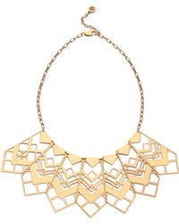 Tory Burch - Chevron Short Necklace - Aged Gold - Lyst