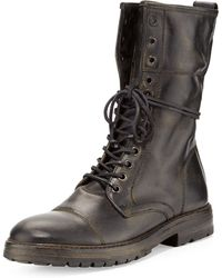 John Varvatos Stanley Tall Laceup Boot - Lyst