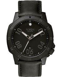 Nixon Ranger Stainless Steel Watch black - Lyst
