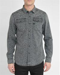G-Star RAW | Grey/camouflage Landoh Press-stud Slim-fit Shirt | Lyst