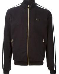 Dolce & Gabbana Black Zipped Sweatshirt - Lyst