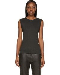 Etoile Isabel Marant Grey Linen Klint Muscle T_Shirt - Lyst