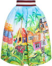 Stella Jean 'Cammello' Tahitian Print Pouf Skirt - Lyst