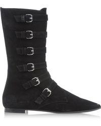 Giambattista Valli Black Tall Boots - Lyst