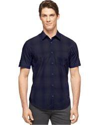 Calvin Klein Large Ombre Plaid Shirt - Lyst