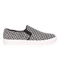 Pixie Market Houndstooth Slip On Shoes - Lyst
